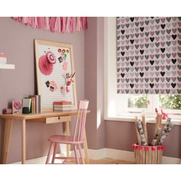 Love Hearts - Roller Window Blinds