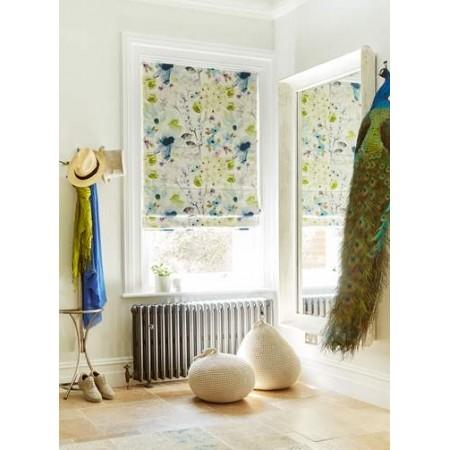 Floretta Teal - Roman Window Blinds